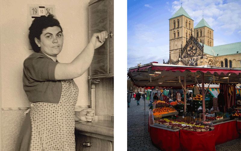 Oma Anneliese und der Markt in Münster